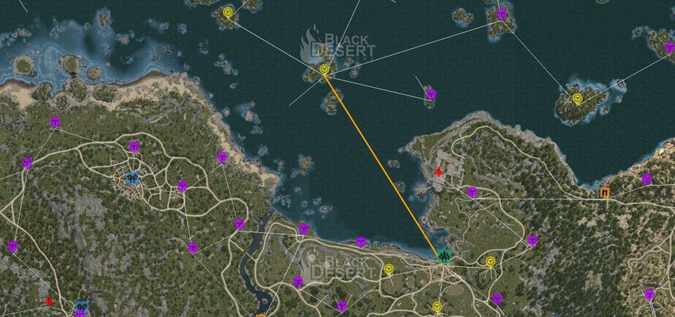 BDO tuto pêche route commerciale