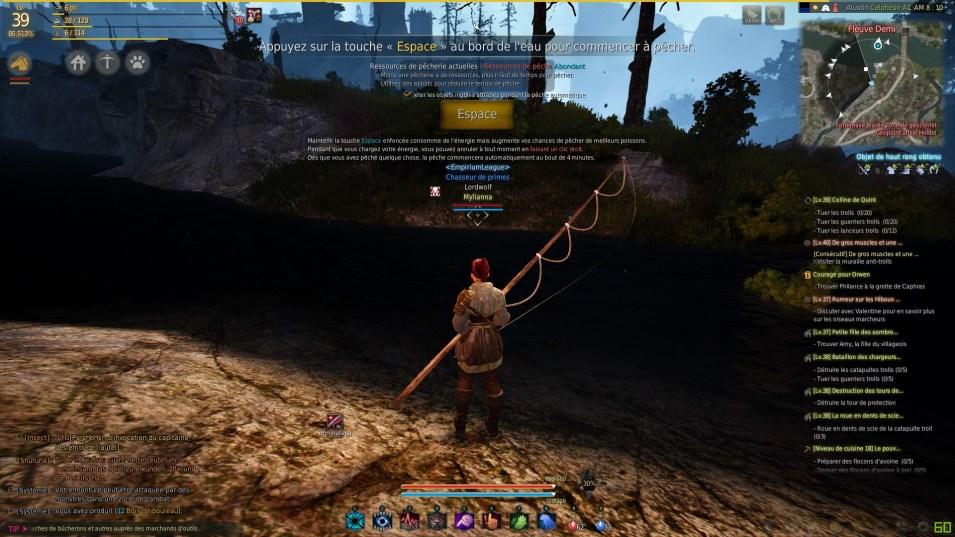 BDO tuto pêche Espace