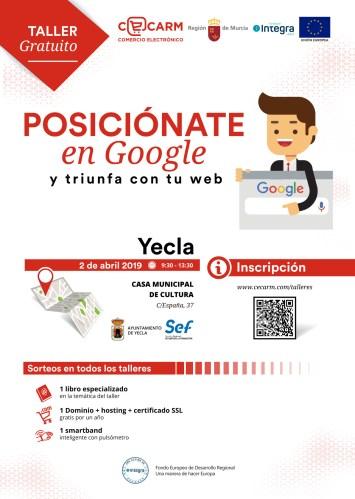 """""""Pósicionate en Google y triunfa con tu Web"""" taller gratuito"""