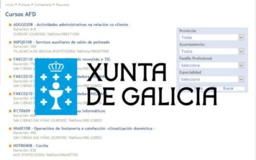 Abierto el plazo para los cursos AFD de la Xunta de Galicia con Certificado de Profesionalidad.