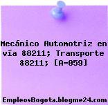Mecánico Automotriz en vía &8211; Transporte &8211; [A-059]