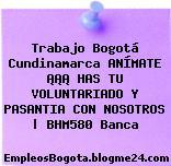 Trabajo Bogotá Cundinamarca ANÍMATE ¡¡¡ HAS TU VOLUNTARIADO Y PASANTIA CON NOSOTROS   BHM580 Banca