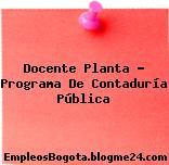 Docente Planta : Programa De Contaduría Pública