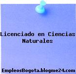 Licenciado en Ciencias Naturales