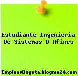 Estudiante Ingenieria De Sistemas O Afines
