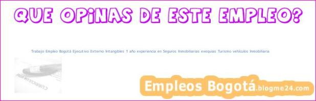 Trabajo Empleo Bogotá Ejecutivo Externo Intangibles 1 año experiencia en Seguros Inmobiliarias exequias Turismo vehículos Inmobiliaria