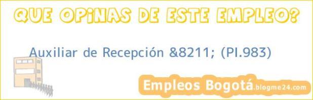 Auxiliar de Recepción &8211; (PI.983)