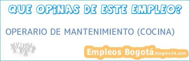 OPERARIO DE MANTENIMIENTO (COCINA)