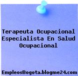 Terapeuta Ocupacional Especialista En Salud Ocupacional