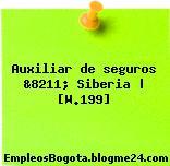 Auxiliar de seguros &8211; Siberia | [W.199]