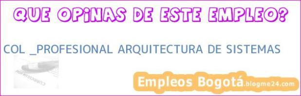 COL _PROFESIONAL ARQUITECTURA DE SISTEMAS