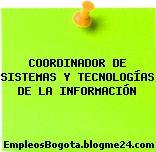 COORDINADOR DE SISTEMAS Y TECNOLOGÍAS DE LA INFORMACIÓN