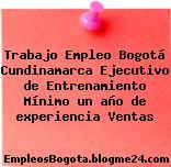Trabajo Empleo Bogotá Cundinamarca Ejecutivo de Entrenamiento Mínimo un año de experiencia Ventas