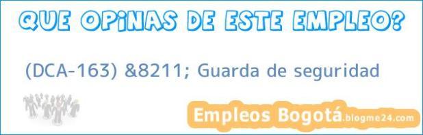 (DCA-163) &8211; Guarda de seguridad