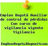 Empleo Bogotá Auxiliar de control de pérdidas Con curso de vigilancia vigente Vigilancia