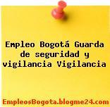Empleo Bogotá Guarda de seguridad y vigilancia Vigilancia