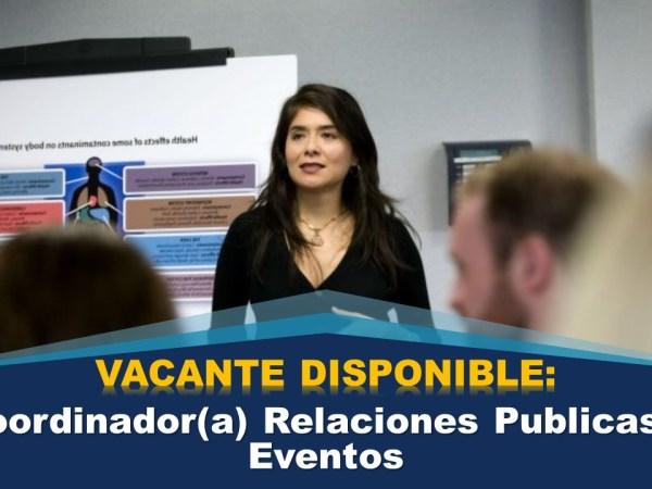 Coordinador(a) Relaciones Publicas y Eventos