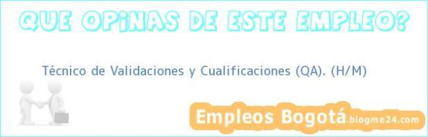 Técnico de Validaciones y Cualificaciones (QA). (H/M)
