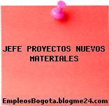 JEFE PROYECTOS NUEVOS MATERIALES