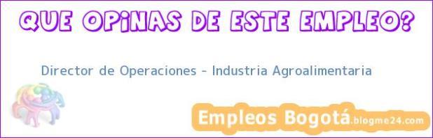 Director de Operaciones – Industria Agroalimentaria