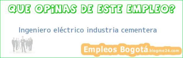 Ingeniero eléctrico industria cementera