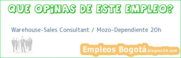 Warehouse-Sales Consultant / Mozo-Dependiente 20h