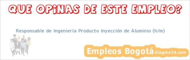 Responsable de Ingeniería Producto Inyección de Aluminio (h/m)