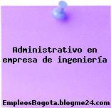 Administrativo en empresa de ingeniería