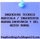 INGENIERO TECNICO AGRICOLA / INGENIERIA AGROALIMENTARIA Y DEL MEDIO RURAL