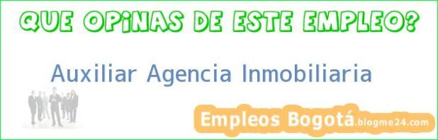 Auxiliar Agencia Inmobiliaria