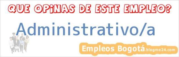 Administrativo/a