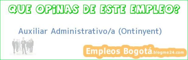 Auxiliar Administrativo/a (Ontinyent)