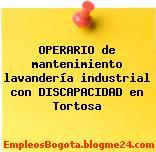 OPERARIO de mantenimiento lavandería industrial con DISCAPACIDAD en Tortosa