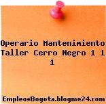 Operario Mantenimiento Taller Cerro Negro 1 1 1