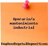 Operario/a Mantenimiento Industrial