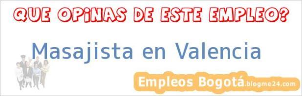 Masajista en Valencia