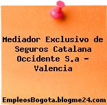 Mediador Exclusivo de Seguros Catalana Occidente S.a – Valencia