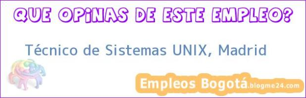 Técnico de Sistemas UNIX, Madrid