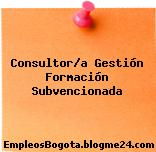 Consultor/a Gestión Formación Subvencionada