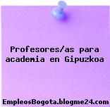 Profesores/as para academia en Gipuzkoa