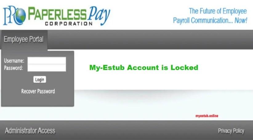 My-Estub Account is locked