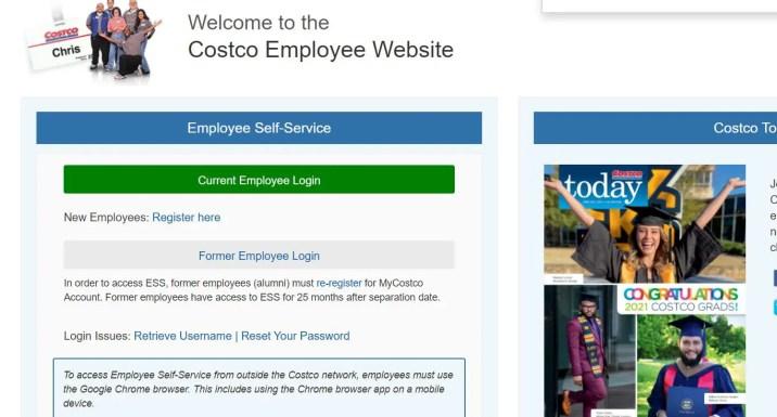 Costco employee login