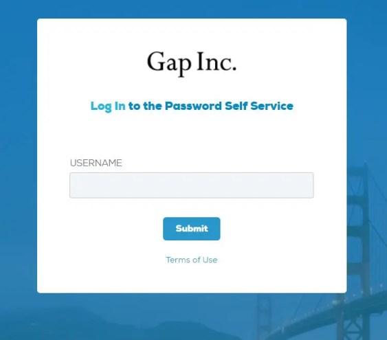 Gap Portal Login Password Reset Steps