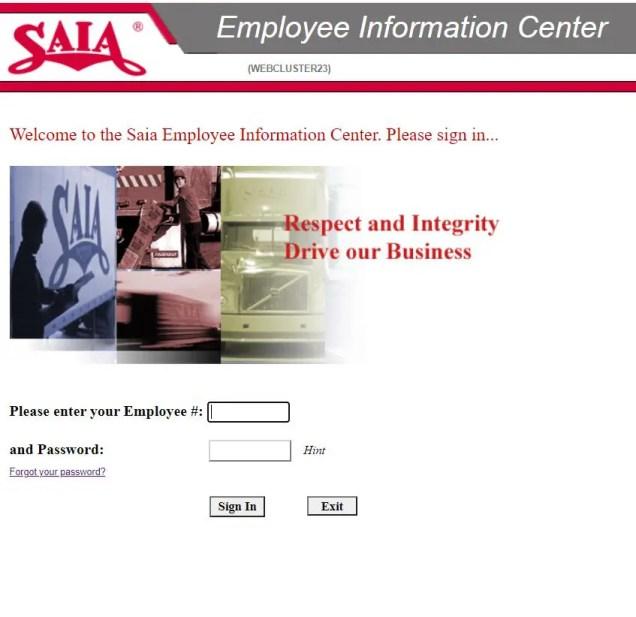 Saia employee login