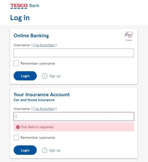Tesco car insurance login