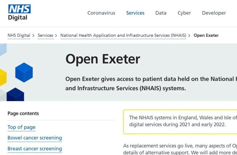 open exeter login