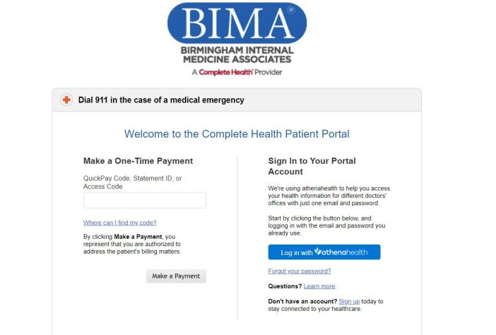 Bima Patient Portal Login