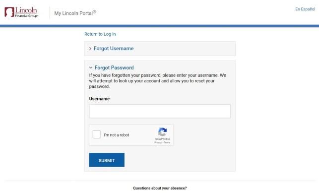 Mylincoln Portal Login Password Reset Process