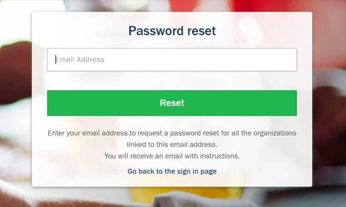 Nexonia Login Password Reset Process