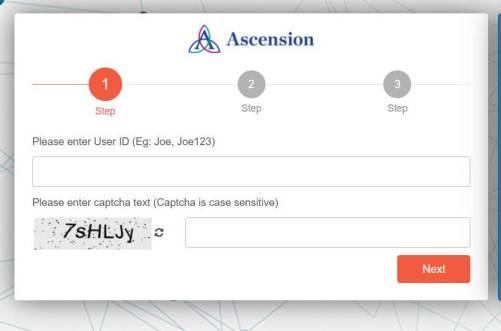 MyAscension Login Password Reset